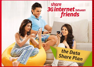 Airtel Free Share your 3G/4G Data with upto 4 Friends