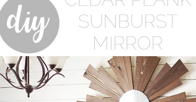 DIY Wood Sunburst Mirror