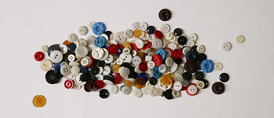 A Pile of Colorful Vintage Buttons