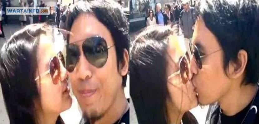 Foto skandal Ciuman bibir Hot Mesra Alyssa Soebandono dan Desta Artis cantik Indonesia di tempat umum