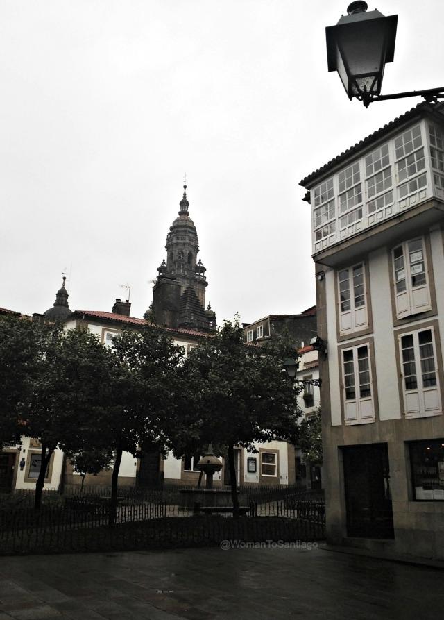 foto de la plaza de fonseca de santiago