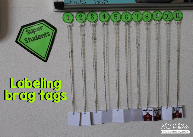 Using numbers to label where you hang your brag tags allows you the chance to leave them up year after year and not have to change the tags.