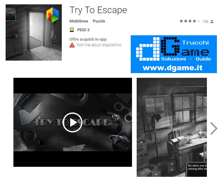 Soluzioni Try To Escape di tutti i livelli | Walkthrough guide