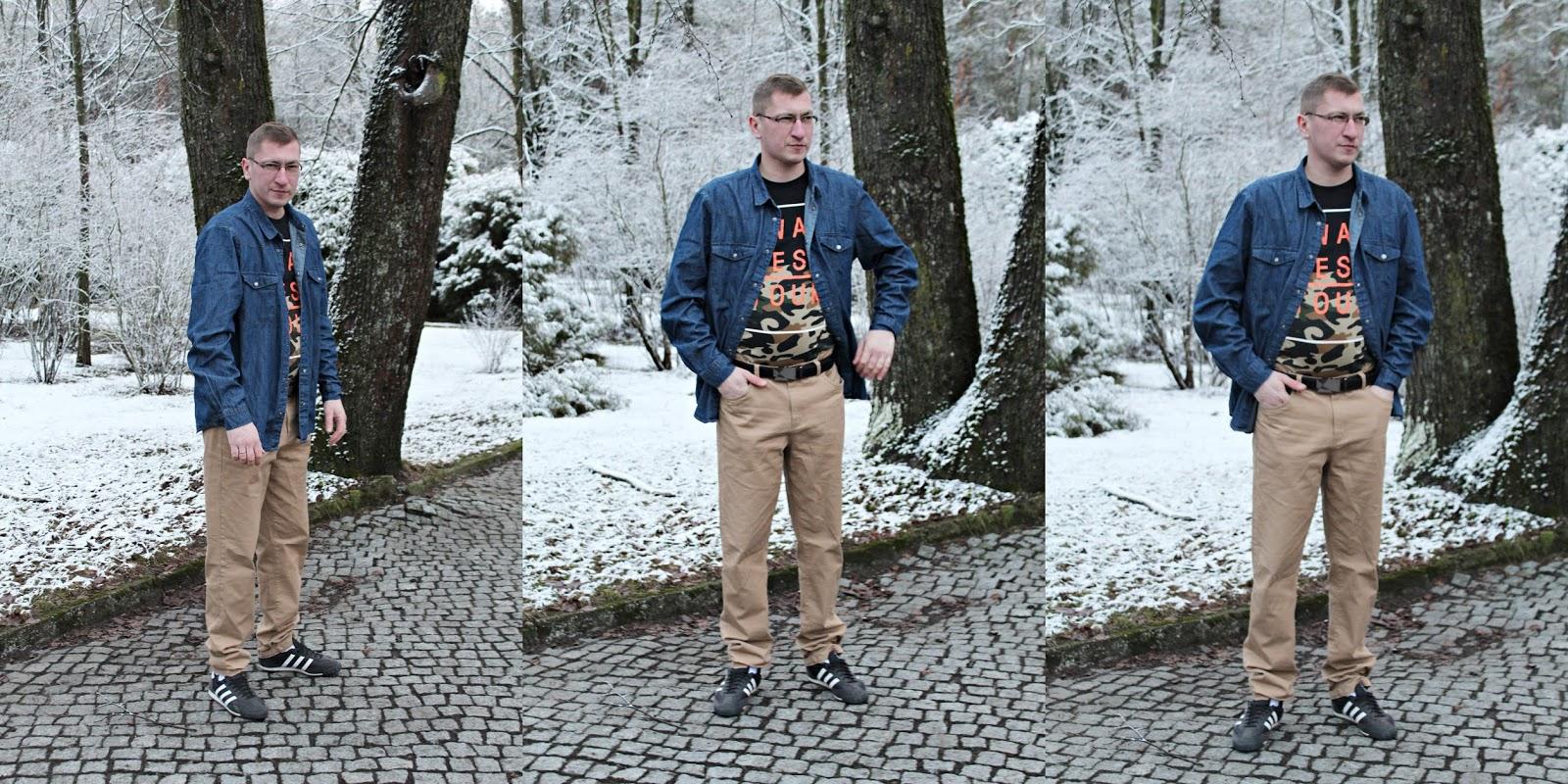 Męska koszula + spodnie BONPRIX