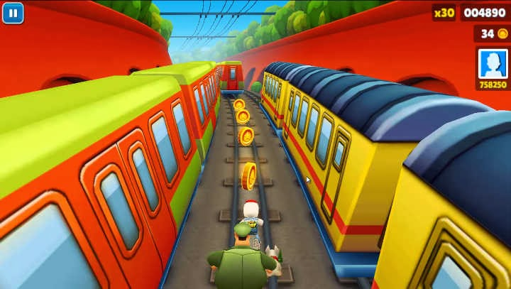 Download and Play Subway Surfers on PC using keyboard