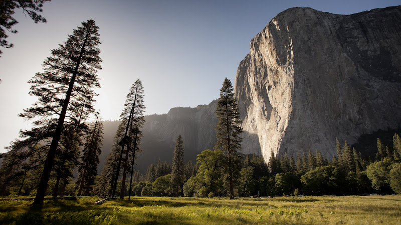 Sunset lighting up El Capitan