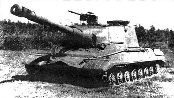 САУ Объект 268 с 152-мм орудием М-64 и 14,5-мм зенитным пулеметом