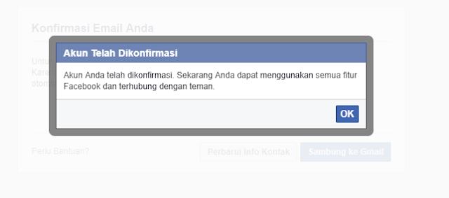 Akun facebook berhasil kamu buat