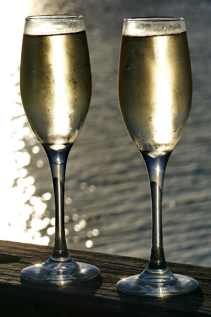 Champagner Prosecco Drinks Meer Flugangst Heron Island