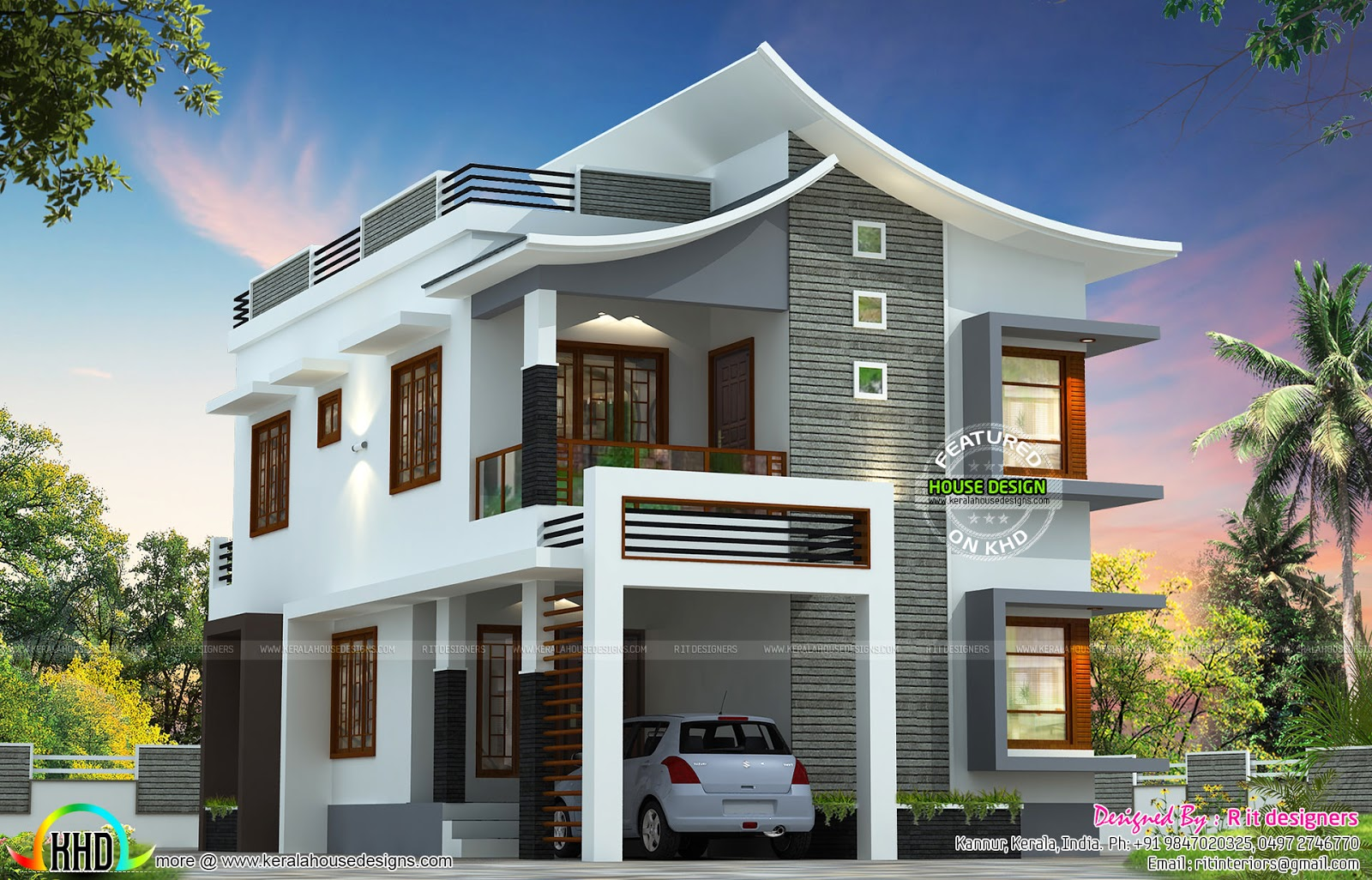 100 200 square meter kerala model may 2014 kerala home for Kerala house plans 2014