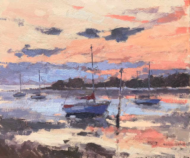 #404 'Dawn, Langstone Harbour' 10×12″