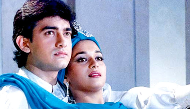 Aamir Khan and Madhuri Dixit in Dil, 1990s romantic blockbuster
