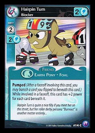 My Little Pony Hairpin Turn, Blocker Canterlot Nights CCG Card