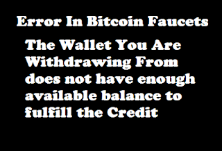 The wallet you are withdrawing from does not have