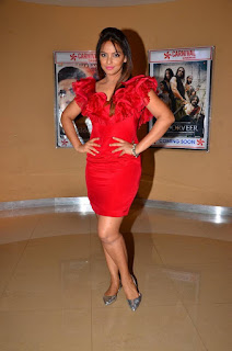 Actress Neetu Chandra Latest Stills in Red Short Dress at Womens Day Special Video Launch  0011.jpg
