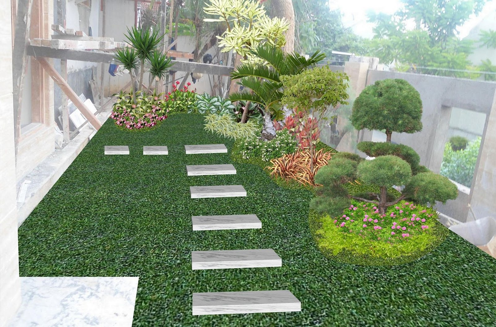 Minimalist front garden design ideas halamanku halamanmu for Front garden designs and ideas
