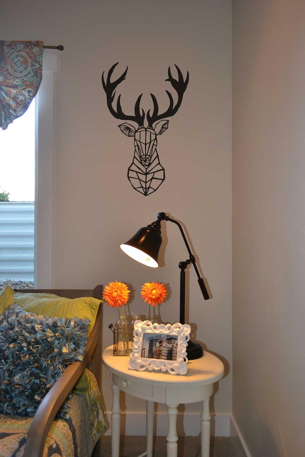 Hakuna Matata Wall Stickers Vinyl 4 Decor Deer Head Geometric Shape