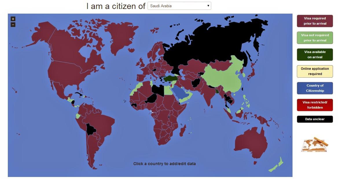 موقع يعطيك الدول التي تطلب منك الفيزا أو لا تطلب منك الفيزا