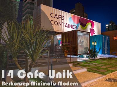 14 ide desain cafe unik dengan konsep minimalis modern