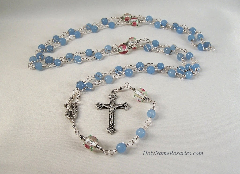 3fe1fe6cf Strengthen Your Brethren: Mother's Day Rosary with Blue Agate and ...