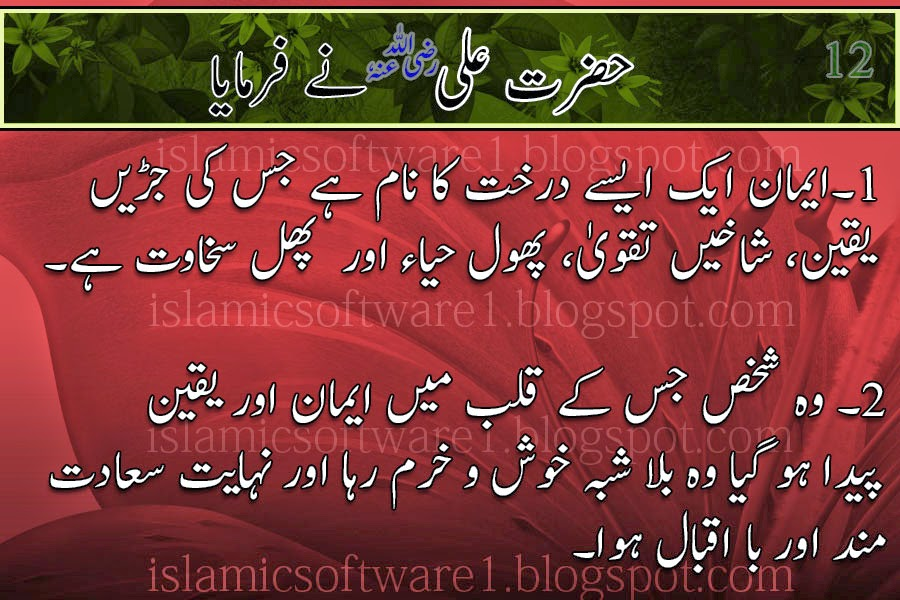 quotes of Hazrat Ali R.A  in urdu