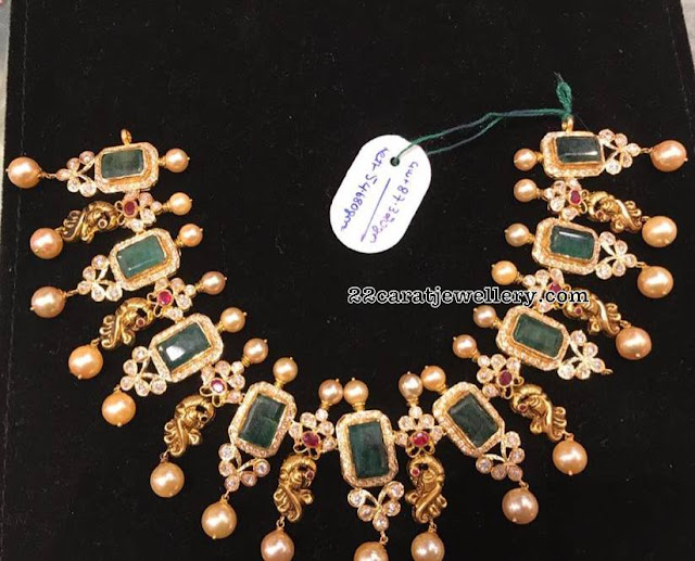 Peacock Emerald Sets by Premraj Jewellers