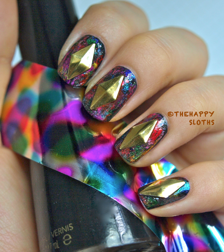 Mixed Metals Nails: Manicure Featuring Nail Foils And