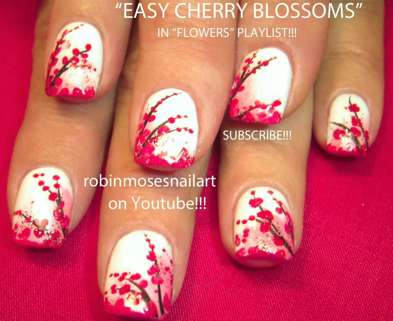 """Nail Art by Robin Moses: """"easy flower nails"""" """"flower nails ..."""