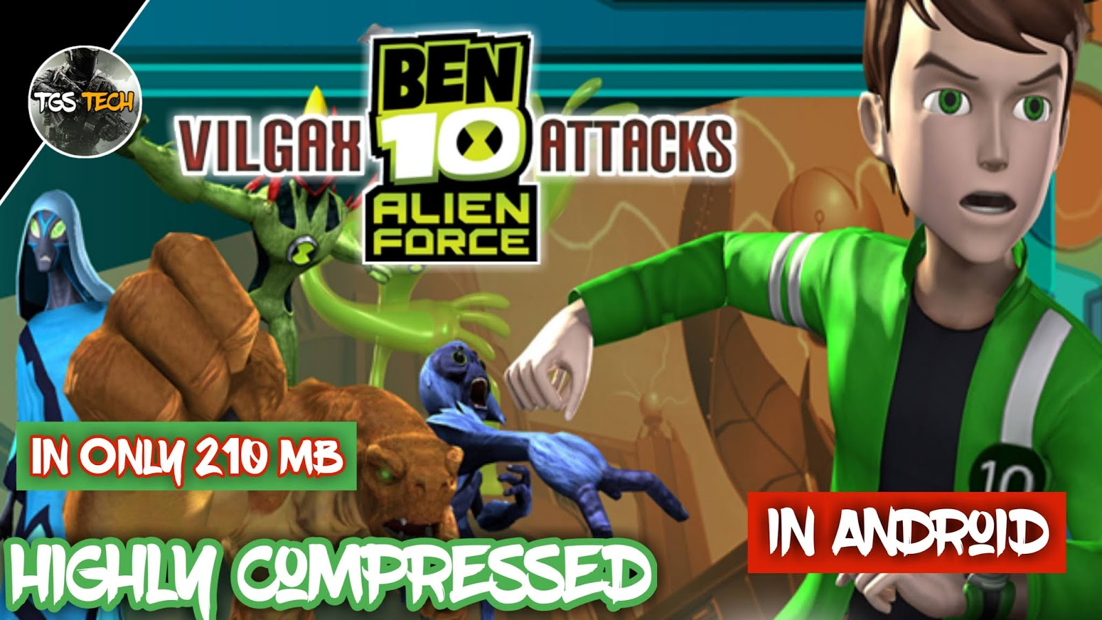 How to download Ben 10 Vilgax Attacks highly compressed in
