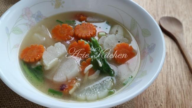 Sup Lobak Putih Untuk Wanita Dalam Pantang Azie Kitchen