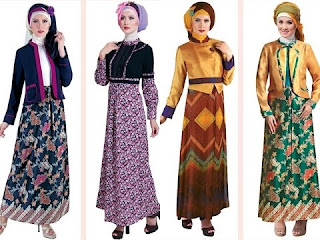 Long Dress Batik untuk Acara Pesta, model kedua