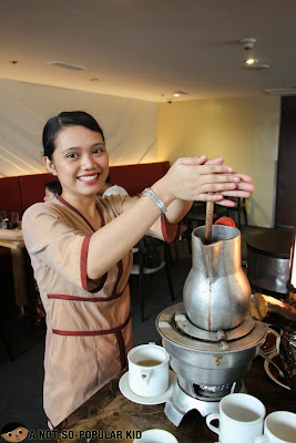 Preparing the Batirol Chocolate Drink in F1 Hotel Manila