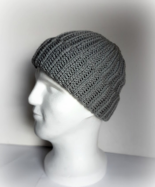My Hobby Is Crochet: Ribbed Men Hat - Free Crochet Pattern ...