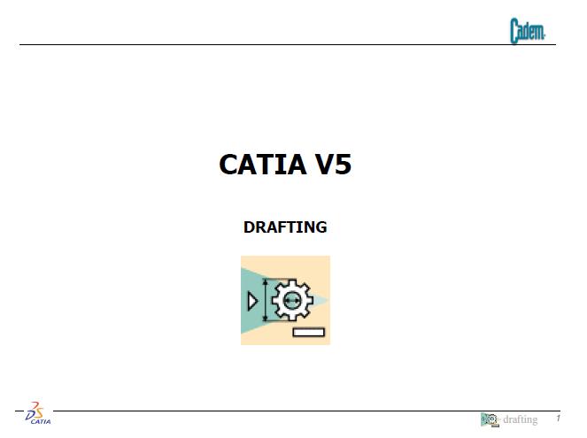 Cad Dictionary: Cadem Catia Drafting Eğitimi