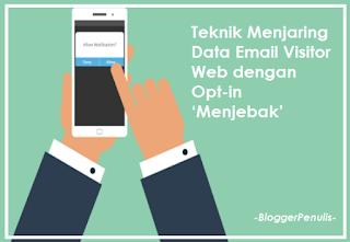 Teknik Menjaring Data Email Visitor Web dengan Opt-in 'Menjebak'