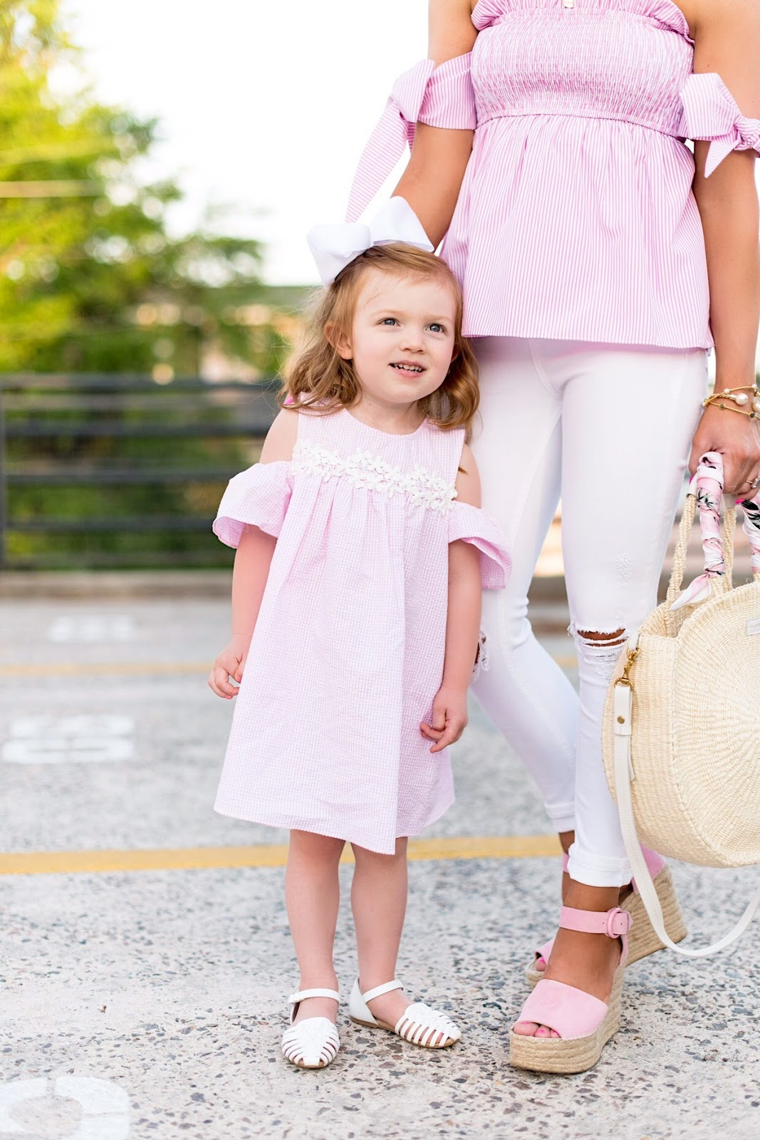 Mommy and Me in Pink and White - Something Delightful Blog