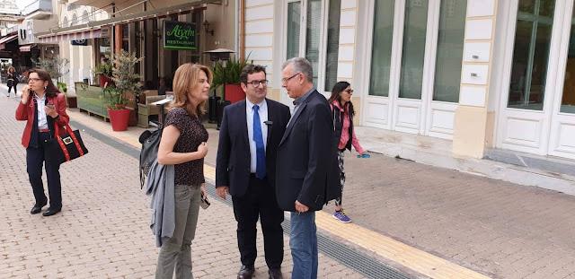 """Ι. Μαλτέζος με την Πέγκυ Σταθακοπούλου και κλιμάκιο της """"Πρωτοβουλίας για την Πελοπόννησο"""" στο Άργος"""