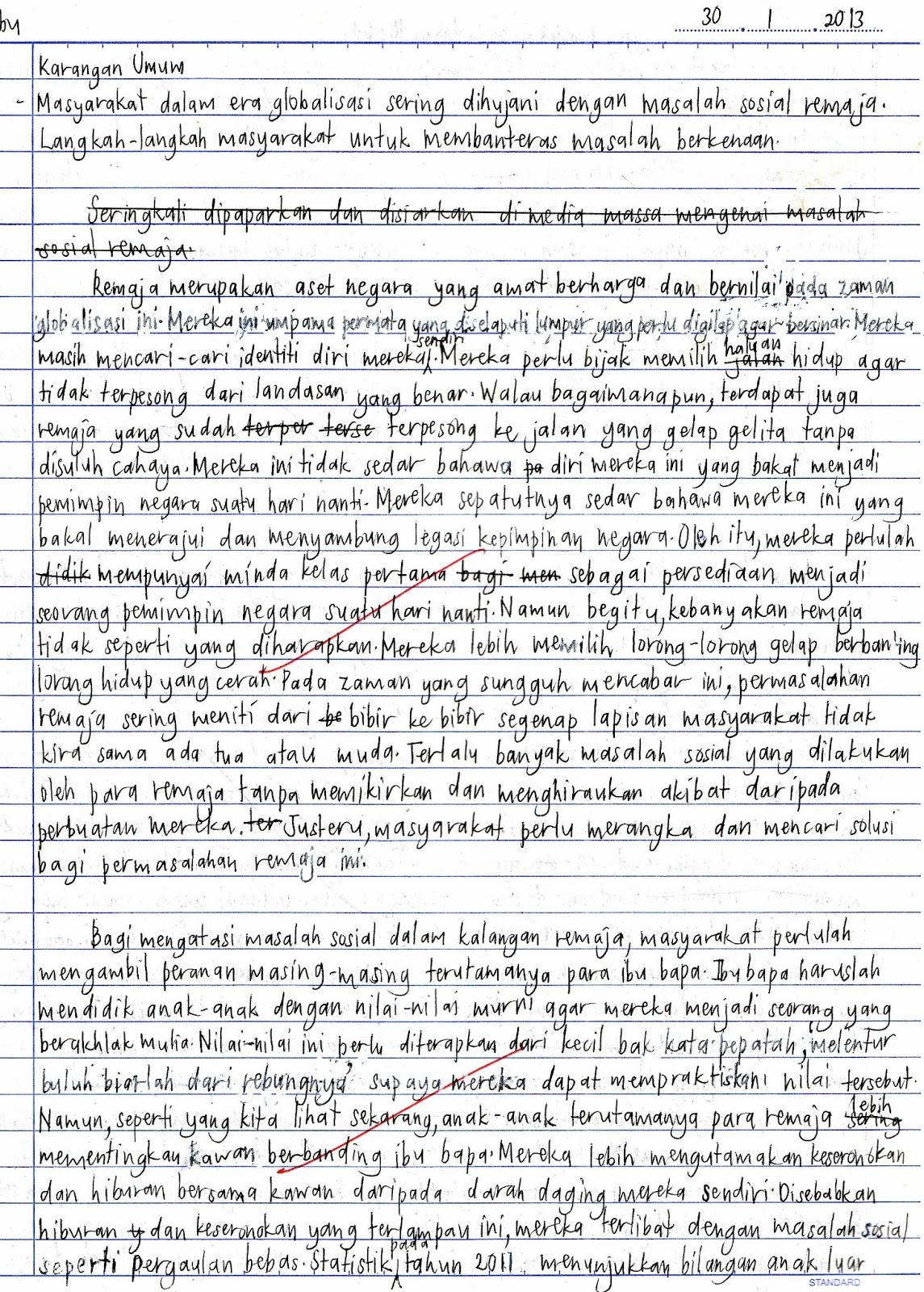 Koleksi Karangan Bahasa Inggeris UPSR