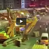 Dismantling of Yonghemen Flyover Jiangxi Province by 68 excavators