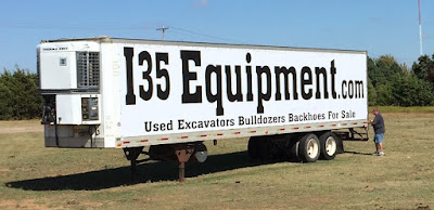 I35 Equipment Vinyl Banner on Semi Truck | Banners.com