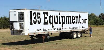 I35 Equipment Vinyl Banner on Semi Truck | Banners.com
