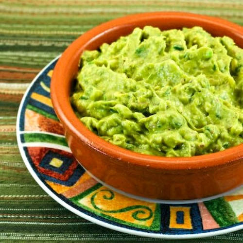 Cilantro-Lovers Perfect Guacamole with Red Onion, Lime, and Chiles found on KalynsKitchen.com