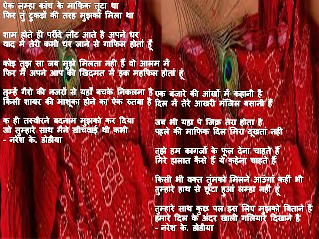 कुछ हिंदी शेर -  By Naresh K. Dodia