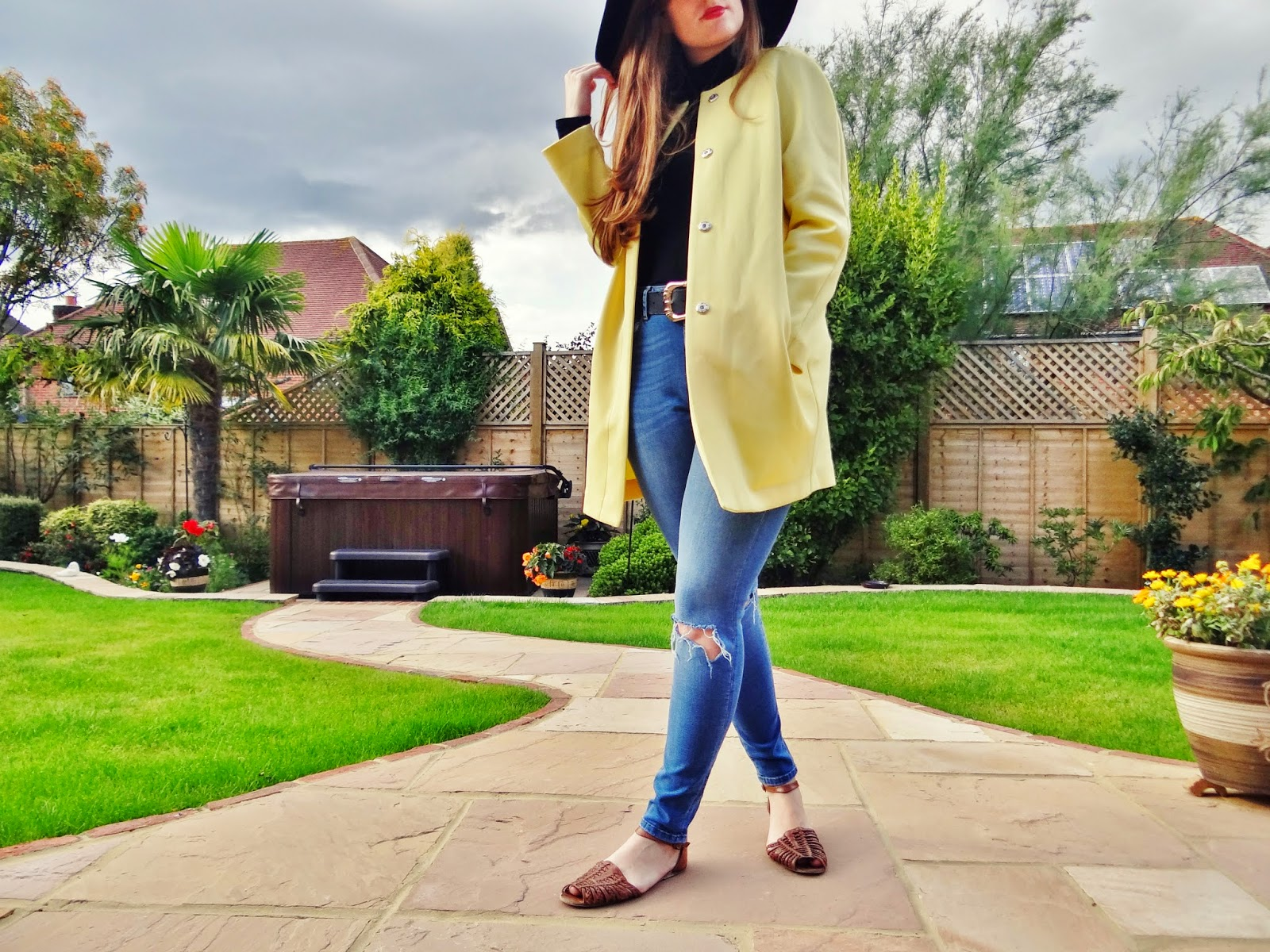 new in store yellow scuba coat primark