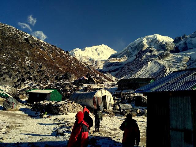 HMI Base Camp at Chaurikhang
