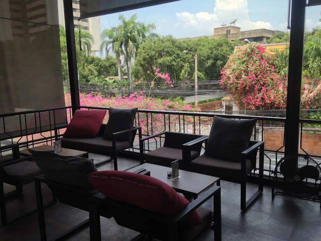 balcony cafe in Bangkok, Thailand