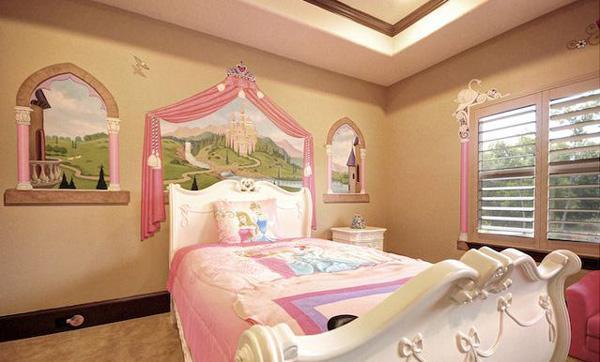Gambar Kamar Tidur Anak Perempuan Princess 2015 Desain Terbaru Cantik