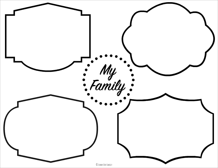 family picture printable placemats  family dinner book club craft for beezus  u0026 ramona
