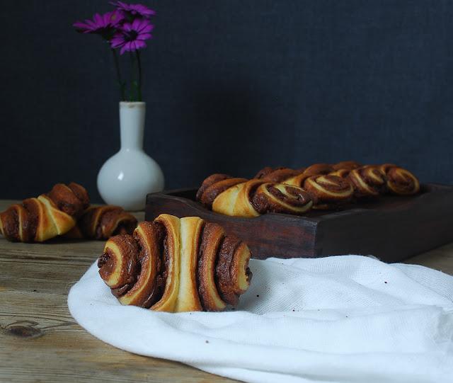 Franzbrötchen - Nutella rolls - Rollitos de Nutella alemanes