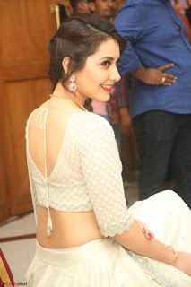 Raashi Khanan looks stunning in Crop Top Deep neck Choli Ghagra Transparent Chunni WOW ~  Exclusive Celebrities Galleries 011